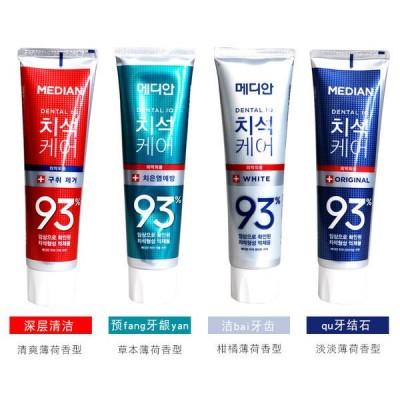韩国爱茉莉93%麦迪安Median牙膏120g